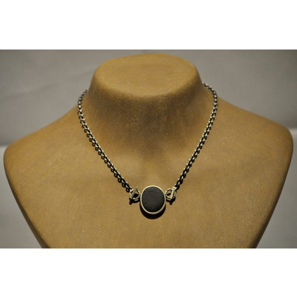 Black stone necklace by Terri Logan