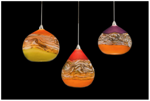 Art lighting you wont regret the natural beauty as well as the lovely glow of light these hand blown pendants will provide you mozeypictures Image collections