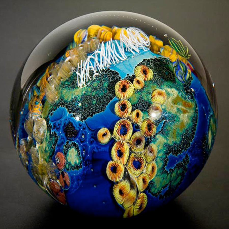 glass art planet