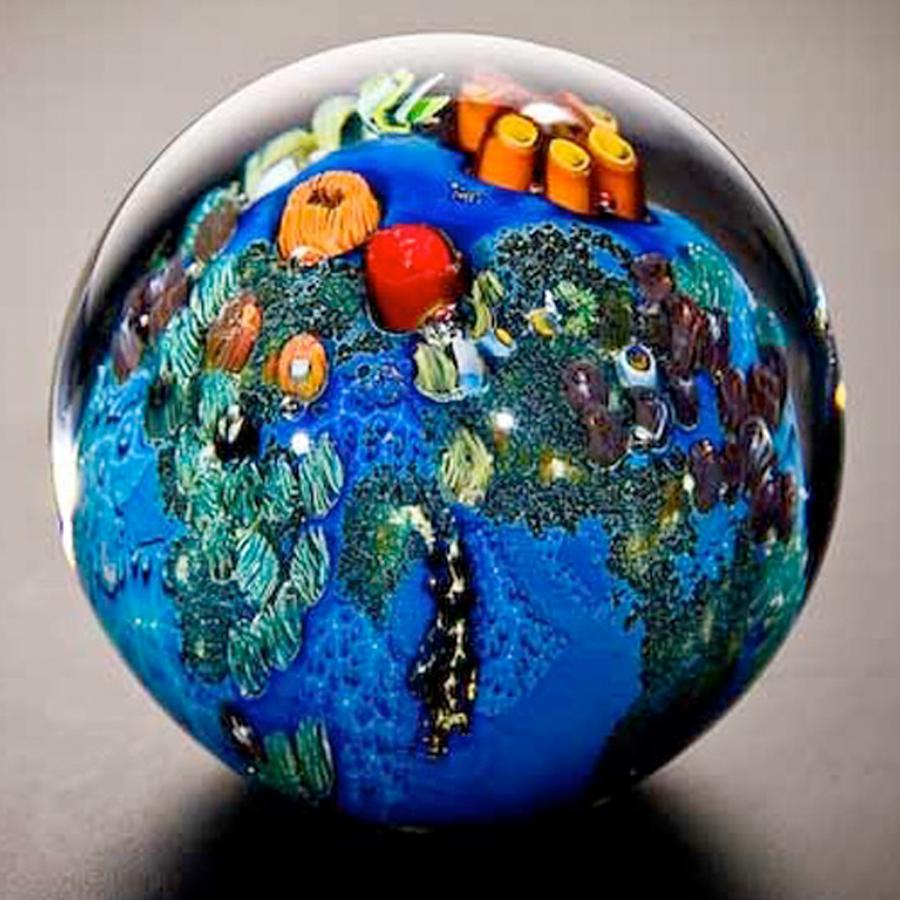 Underwater glass planet by glass artist Josh Simpson