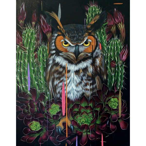 Night Watch Owl painting by Frank Gonzales