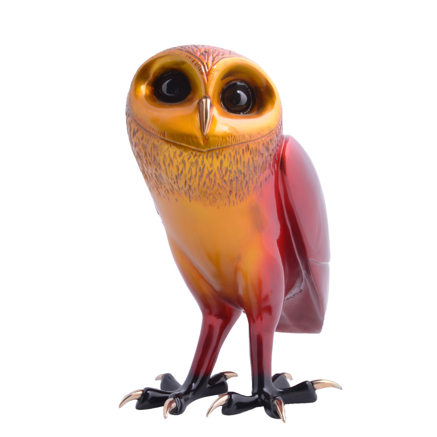 This owl sculpture is a limited edition bronze by the world famous artist Tim Cotterill the Frogman. Phoenix Rising is a stunning owl sculpture from his birds of prey series.