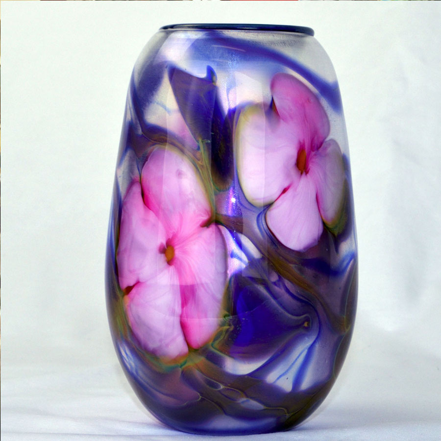 This is a Vintage Multi Flora Vase by Charles Lotton created in 1977